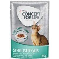 Concept for Life Sterilised Cats en salsa - 24 x 85 g
