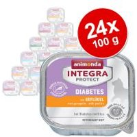Animonda Integra Protect Adult Diabetes 24 x 100 g para gatos - Pack Ahorro - Vacuno