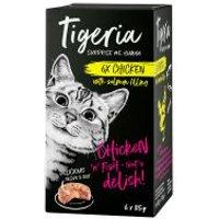 Tigeria 6 x 85 g comida húmeda para gatos - Salmón con relleno de boniato