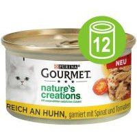 Purina Gourmet Nature's Creations 12 x 85 g - Atún con tomate y arroz