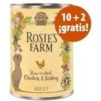 Rosie's Farm 12 x 400 g latas en oferta: 10 + 2 ¡gratis! - Pescado y pollo