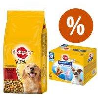Pedigree 15 kg pienso + 56 uds. Dentastix perros pequeños ¡precio especial! - Junior Maxi con pollo y arroz + 56 Dentastix perros pequeños