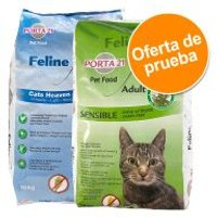 Porta 21 pienso para gatos sin cereales - Pack mixto - 2 x 2 kg (Cats Heaven + Sensible)