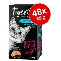 Tigeria 48 x 85 g comida húmeda para gatos - Pack Ahorro - Pack mixto I