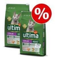 Ultima para gatos 2 x 7,5 kg / 2 x 3 kg - Pack Ahorro - Esterilizado Adult con buey (2 x 3 kg)