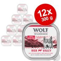 Wolf of Wilderness Adult 12 x 300 g - Pack Ahorro - High Valley, con vacuno