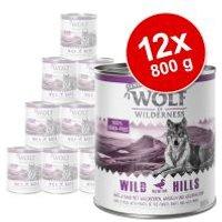 Wolf of Wilderness Senior 12 x 800 g - Pack Ahorro - Green Fields, con cordero