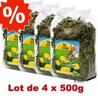 Lot JR Farm Pissenlits pour rongeur - 4 x 500 g