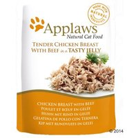 Applaws Pouch in Jelly 16 x 70 g - Huhn mit Rind