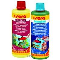 Kit d'entretien de l'eau pour aquarium Sera 2 x 500 mL - 2 x 500 mL