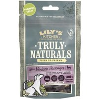 Lilys Kitchen Truly Naturals Mini Venison Sausages Dog Treats - Saver Pack: 3 x 60g