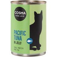 Cosma Original in Jelly 6 x 400 g - Mix Thunfisch, Hühnchen, Sardine