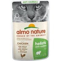 Almo Nature Holistic Anti Hairball 12 x 70 g Huhn
