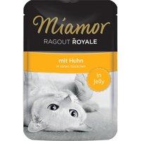 22x100g Ragoût Royal en gelée - poulet Miamor - Nourriture pour Chat