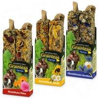 JR Farm Farmy's Grainless pour rongeur - 6 x 2 friandises (3 sortes de 140 g)