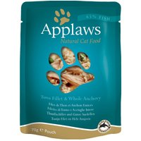 Applaws Cat Food Pouches 12 x 70g - Tuna with Pacific Prawns