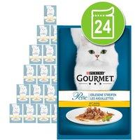 Purina Gourmet Perle Finas Láminas en sobres 24 x 85 g - Pack Ahorro - Pack mixto: Finas Láminas en Salsa