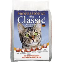Professional Classic Cat Litter with Baby Powder Scent - Economy Pack: 2 x 15kg
