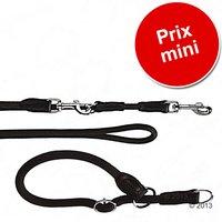 Lot Hunter Freestyle, noir : collier + laisse pour chien - collier L 60 cm + laisse 200 cm