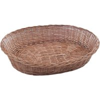 Aumller Wicker Dog Basket - Approx. 100 x 80 x 28 cm (L x W x H)