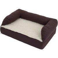 Orthopaedic Dog Bed - Brown / Beige - 115 x 65 x 32 cm (L x W x H)