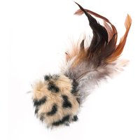Feather Ball with Microchip Squeak - 1 Toy