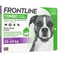 4 pipettes Combo Spot L on Frontline® Chien 20- 40kg