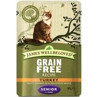 James Wellbeloved Senior Cat Pouches - Turkey - 12 x 85g