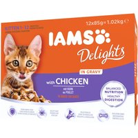 IAMS Delights Kitten Chicken in Gravy - Saver Pack: Chicken in Gravy (24 x 85g)