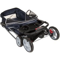 Sporty Pet Stroller for Small Dogs - Navy Blue & Grey
