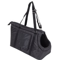 Sleek Nylon Travel Bag - Black - 55 x 22 x 28 cm (L x W x H)