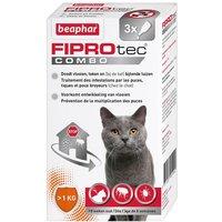 Beaphar Fiprotec Combo pour chat et furet - 3 pipettes de 0,60 mL
