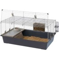 Jaula Ferplast Rabbit 100 - Cubeta color gris: aprox. 97x60x45,5 cm (LxAnxAl)