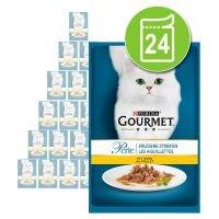 Purina Gourmet Perle en sobres 24 x 85 g - Pack Ahorro - Delicias del océano
