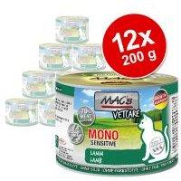 MAC's Mono Sensitive 12 x 200 g en latas para gatos - Pack Ahorro - Pack mixto: cordero y pavo