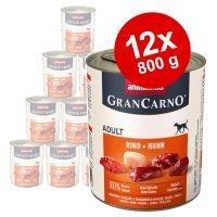 Animonda GranCarno Original Adult 12 x 800 g - Pack Ahorro - Vacuno y pavo