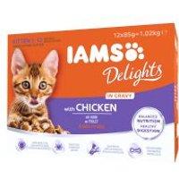 IAMS Delights Kitten con pollo en salsa - 12 x 85 g