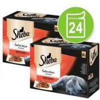 Sheba 24 x 85 g en sobres Multireceta - Pack Ahorro - Fine Flakes Selección de carnes y aves en gelatina