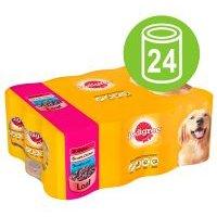 Multipack Pedigree Selection Adult 24 x 400 g - Pack Ahorro - Selección de carnes en salsa (pollo, cordero y vacuno)
