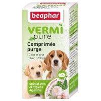 Beaphar Vermipure para cachorros y perros pequeños ( 15 kg) - 2 x 50 comprimidos - Pack Ahorro