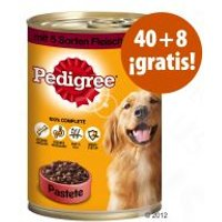 Pedigree 48 x 400 g en oferta: 40 + 8 latas ¡gratis! - 48 x 400 g Adult Classic - 3 surtidos de carne