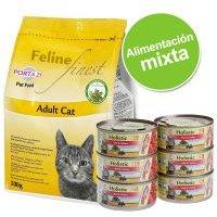 Porta 21 Feline 2 kg pienso para gatos + 6 x 156 g latas Porta 21 Holistic - Feline Finest