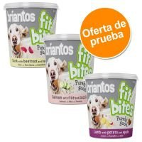Briantos FitBites snacks para perros 3 x 150 g - Pack de prueba Cordero, salmón y pato - Pack de prueba