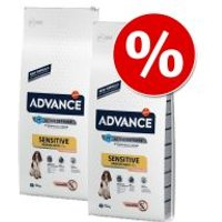 Pack Ahorro: Advance 2 x 7,5 a 15 kg - Sensitive salmón y arroz (2 x 15 kg)