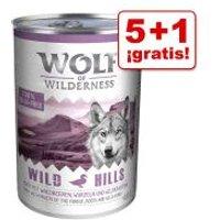 Wolf of Wilderness 6 x 400 / 800 g en oferta: 5 + 1 ¡gratis! - Blue River Junior, con pollo y salmón (6 x 800 g)