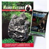 NanoNature Leopardenstein Set - 5 Steine + 3 Liter NatureSoil braun, fein
