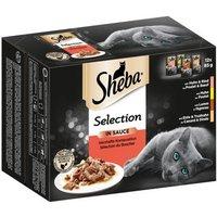 Megapack Sheba Varietäten Frischebeutel 24 x 85 g - Delikatesse in Sauce mit Geflügel Variation