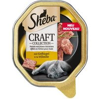 Sheba Craft Collection Schale 44 x 85 g - Pastete mit feinen Stückchen mit Geflügel