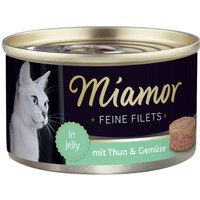 Miamor Fine Fillets 6 x 100g - Tuna & Cheese in Jelly