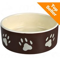 Gamelle Trixie en céramique, marron pour chien et chat - capacité : 0,3 L - 12 cm de diamètre